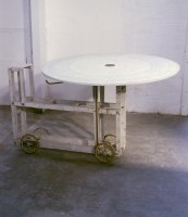 """Huang Yong Ping, <span class=""""wac_title"""">Large Turntable with Four Wheels</span>"""