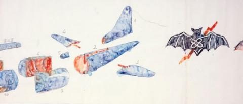 Huang Yong Ping Drawing Huang Yong Ping  Long Drawing